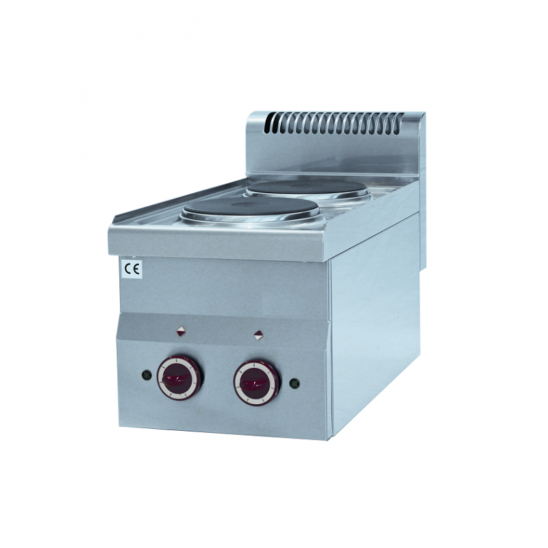 Cuisinière électrique Prof 600mm 2 plaques