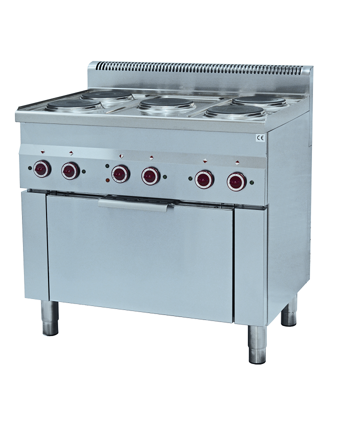 piano 5 feux et four à convection cuisine 600 mm