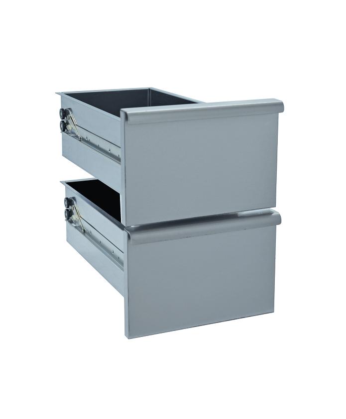 Kit bloc 2 tiroirs pour soubassement