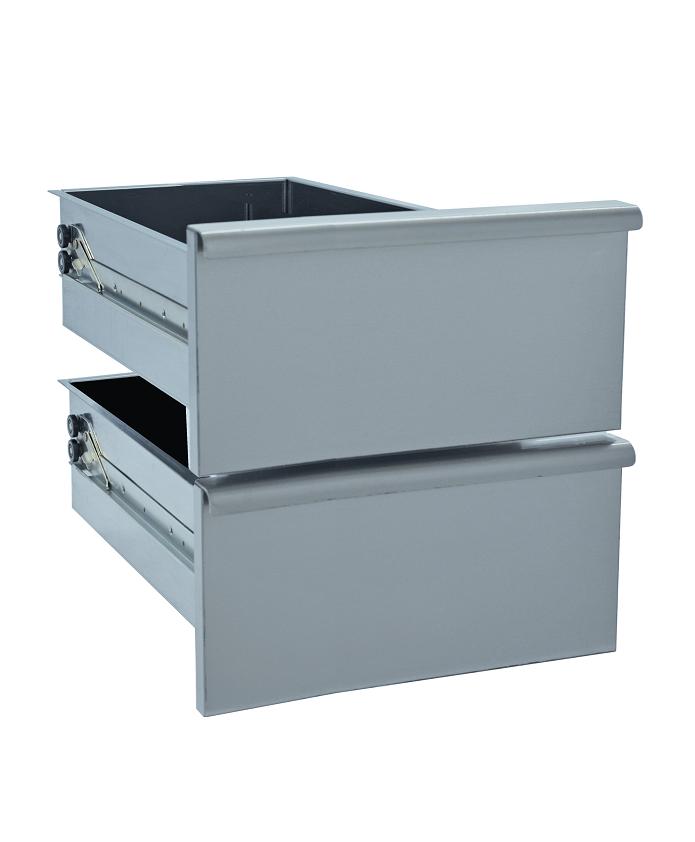 Kit bloc 2 tiroirs pour soubassement 600