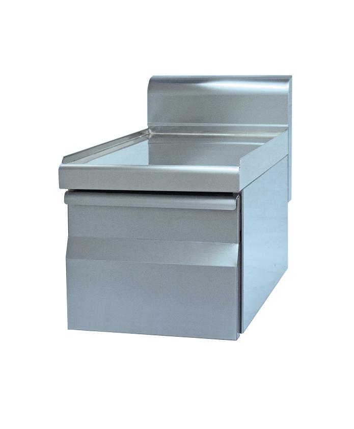 Tiroir inox pour cuisine profondeur 600 mm