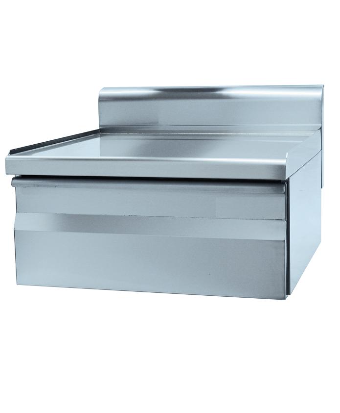 Tiroir inox double pour cuisine profondeur 600 mm