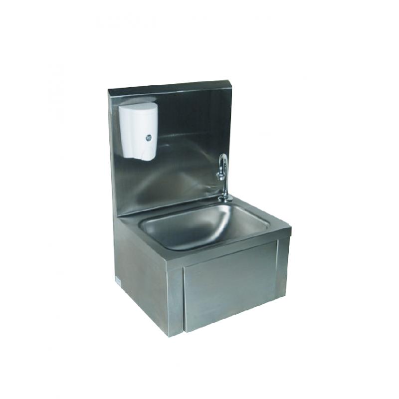 Lave-mains inox avec distributeur de savon