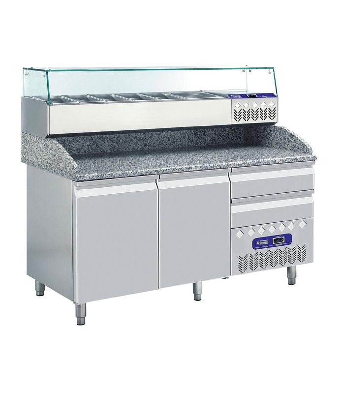 Table pizza frigorifique + structure réfrigérée