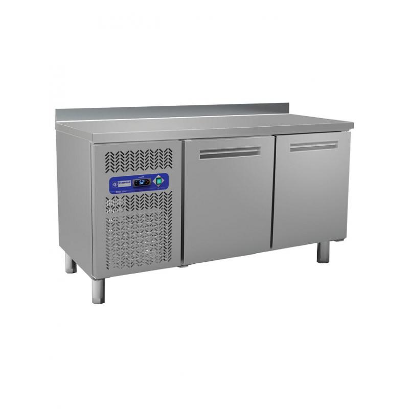 Table frigorifique avec dosseret 2 portes GN1/1