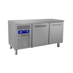 Table frigorifique de stockage 2 portes inox