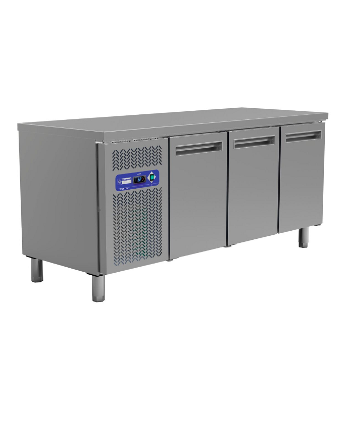 Table frigorifique de stockage 3 portes inox