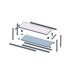 Table centrale inox vue éclatée