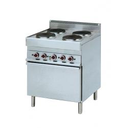 Cuisinière 4 plaques sur four électrique gamme 650