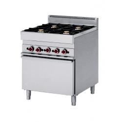 Cuisinière 4 feux vifs sur four gaz gamme pro 650