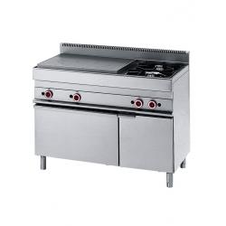 Cuisinière gaz plaque coup de feu 2 brûleurs sur four gamme 650