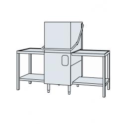 Lave-vaisselle avec 2 tables entrée/sortie