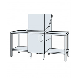 Lave-vaisselle à capot et tables