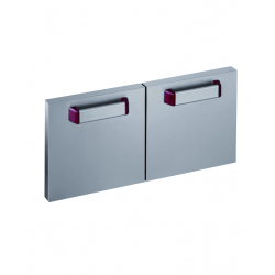 Lot de 2 portes pour support inox Optima 700
