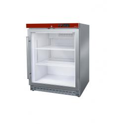 Mini frigo inox à poser porte vitrée