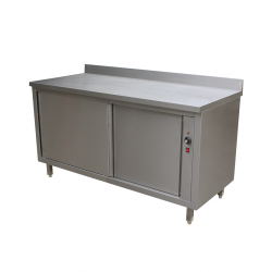 Table sur armoire chauffante profondeur 700mm