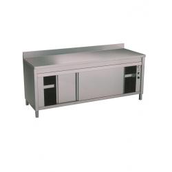 Table sur armoire chauffante adossée