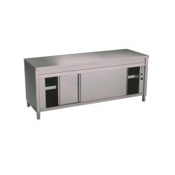 Table sur armoire chauffante électrique largeur 1200/2000mm