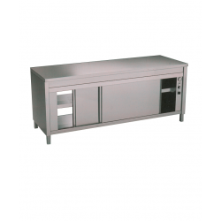 Table armoire chauffante traversante professionnelle
