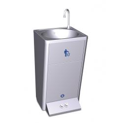 Lave-mains autonome sur socle eau chaude eau froide