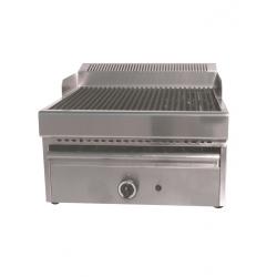 Grill-vapeur gaz avec grille en fonte largeur 410mm