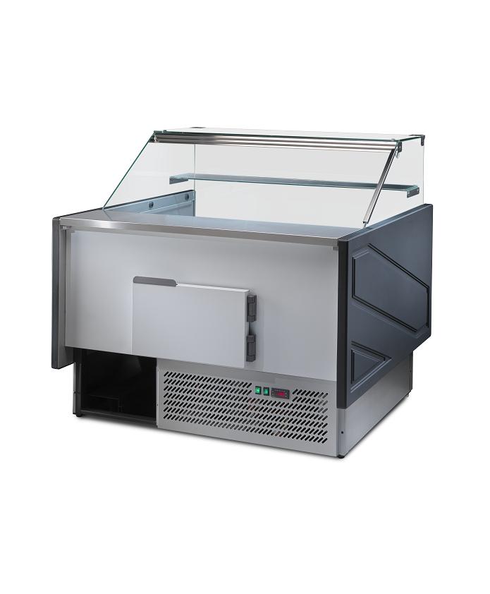 Comptoir réfrigéré avec réserve MEGEVE 1.25m