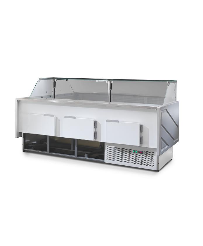 Comptoir frigorifique boucherie vitre droite MEGEVE