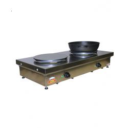 Plaque de cuisson double Ø400mm
