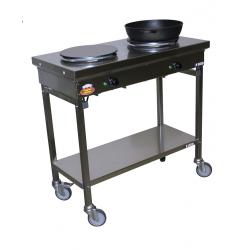 Plaques de cuisson sur châssis mobile