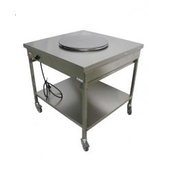 Table de cuisson 1 plaque cuisine mobile sur châssis