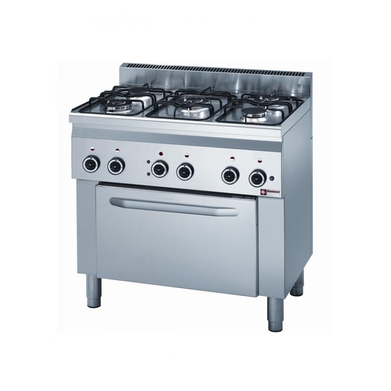 Piano de cuisson gaz professionnel 5 feux
