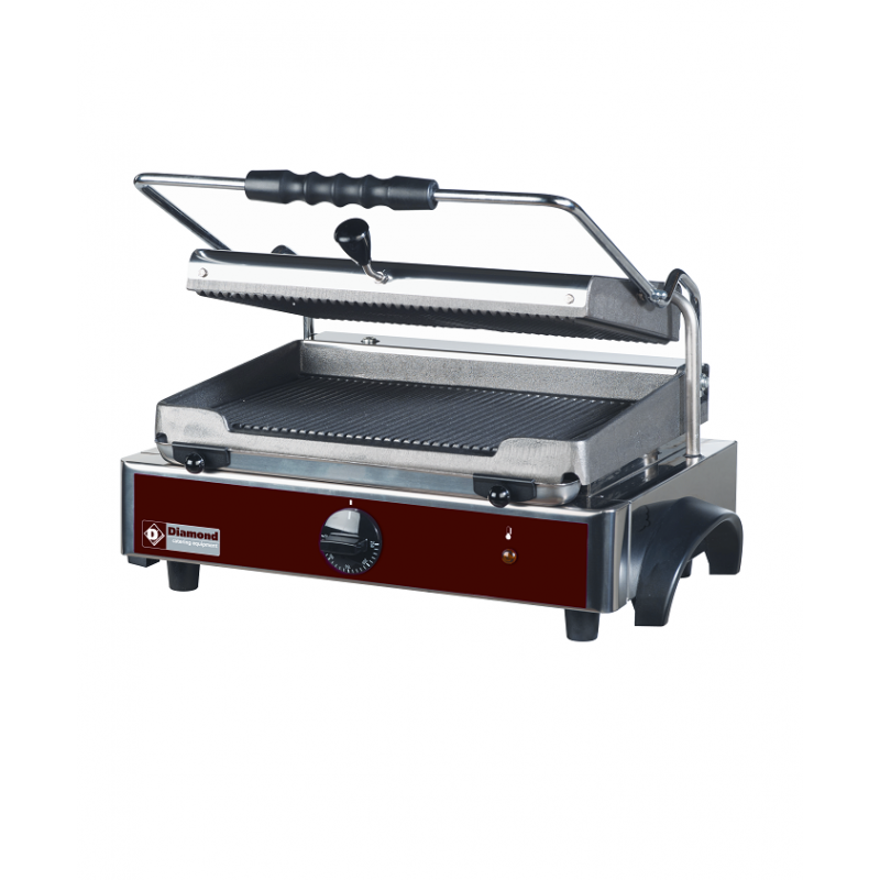 Grill panini double surfaces rainurées
