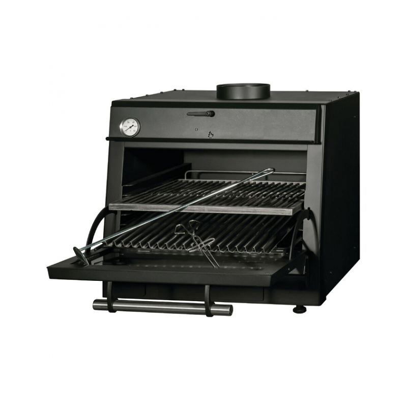 Four barbecue à charbon GN1/1
