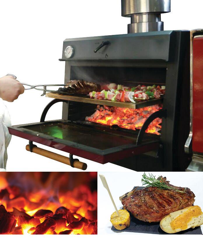 Four BBQ à charbon pour restaurant
