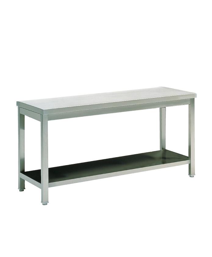 Table inox renforcée avec tablette 700mm