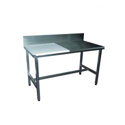 Table de découpe boucherie adossée mixte côte à côte