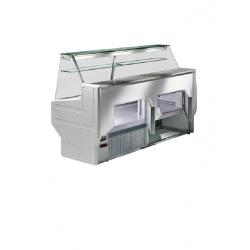 Présentoir réfrigéré comptoir vitrine service arrière