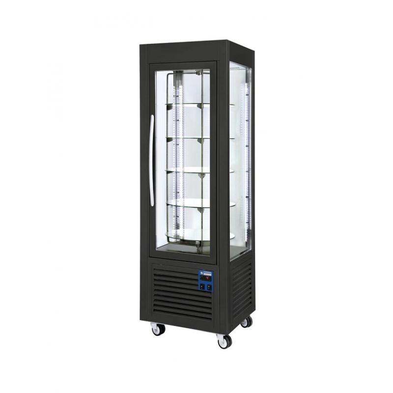 Comptoir frigorifique 4 faces vitrées plateaux tournants