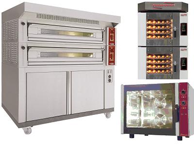 Four boulanger pâtissier professionnel à plaques, chariot ou rotatif