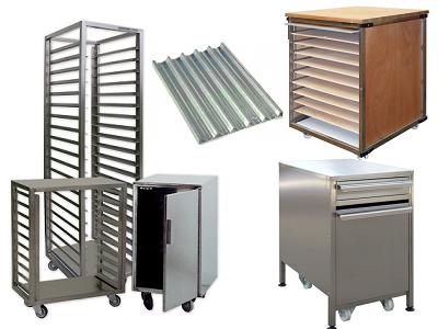 Filets, plaques, couches, échelle et mobilier pâtisserie et fournil