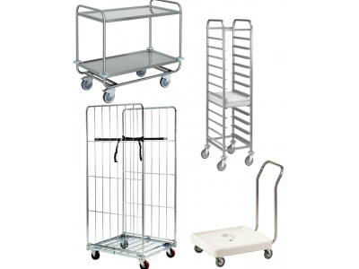 Chariot échelle inox, roll chariot et rayonnage inox professionnel