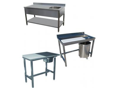 Table inox professionnelle spécifique et table chef