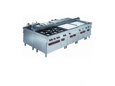 Cuisine professionnelle modulaire 2200 mm pour restaurant