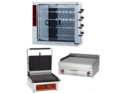 Grill pro et rôtissoire professionnelle à gaz ou électrique