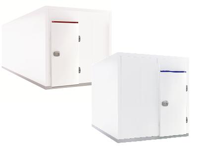 Chambre froide négative ISO 100mm démontable et monobloc surgelé