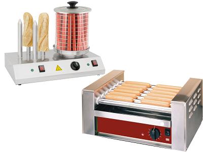 Appareil à hot dog professonnel et accessoires