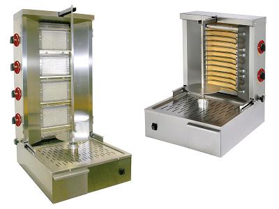 Appareil à kebab professionnel gaz et électrique