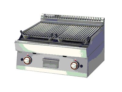 grill pierre de lave, grill vapeur professionnel pour restaurant