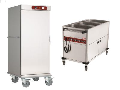 Chariot de distribution de repas chaud professionnel