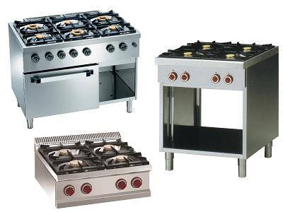 Piano de cuisson professionnel gaz et fourneau gaz